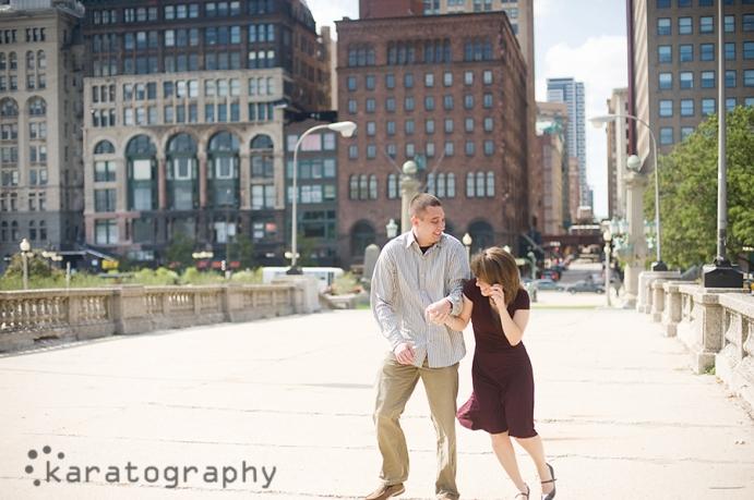millennium park engagement photos